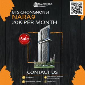 For RentCondoSathorn, Narathiwat : Nara9 [For Rent] Beautiful room, high floor, city view, fully furnished, ready to move in. Work in Sathorn area must be organized Convenient transportation Make an appointment to view the room, contact 📞 Call 065-479-4056 Khun Nong